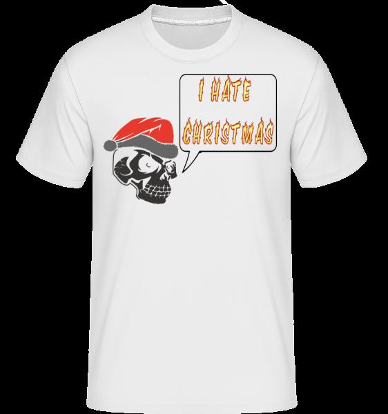 nenávidím Vianoce -  Shirtinator tričko pre pánov - Biela - Predné