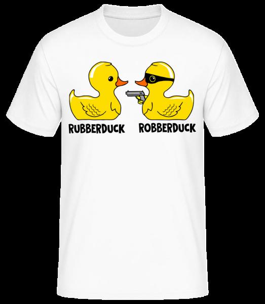 Robberduck - Pánske basic tričko - Biela - Predné