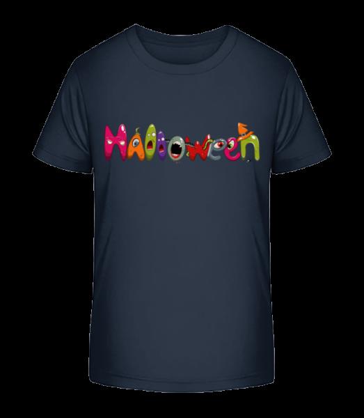 Halloween - Detské Premium Bio tričko - Namornícka modrá - Predné