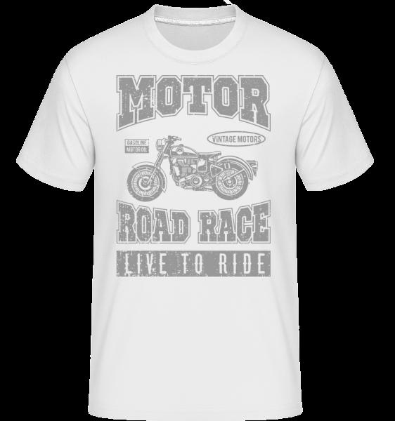 Motor Road Race -  Shirtinator tričko pre pánov - Biela - Predné