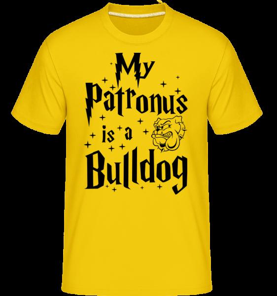 My Patronus Is A Bulldog - Shirtinator tričko pre pánov - Zlatožltá - Predné