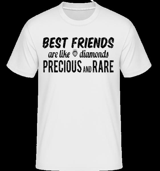 Best Friends Are Like Diamonds - Shirtinator tričko pre pánov - Biela - Predné