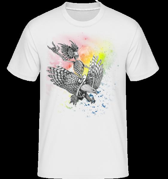 Death Flyer -  Shirtinator tričko pre pánov - Biela - Predné