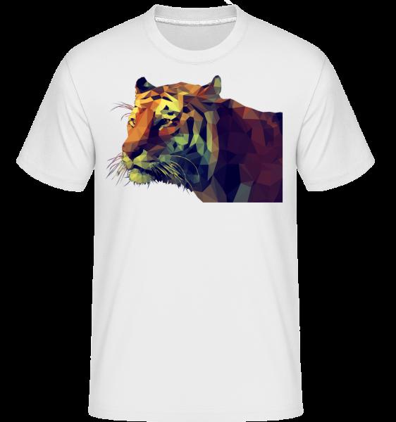 Polygone Tiger -  Shirtinator tričko pre pánov - Biela - Predné