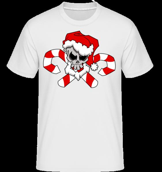 Vianočné Lebka -  Shirtinator tričko pre pánov - Biela - Predné