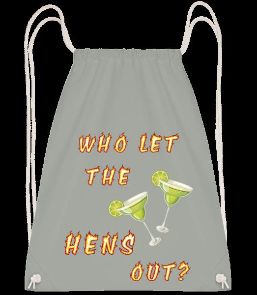 Who Let The Hens Out? - Drawstring batoh so šnúrkami - Antracit - Predné