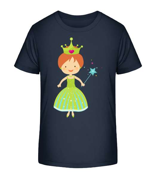Princess Kids - Detské Premium Bio tričko - Namornícka modrá - Predné