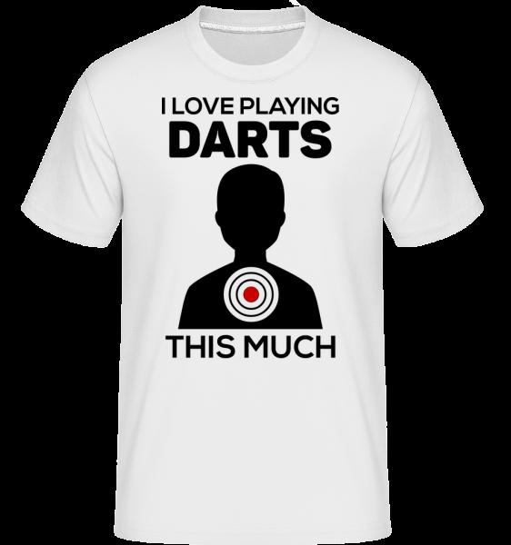 Love Playing Darts - Shirtinator tričko pre pánov - Biela - Predné