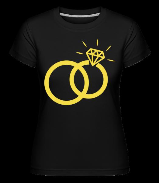 Obrúčky -  Shirtinator tričko pre dámy - Čierna1 - Predné