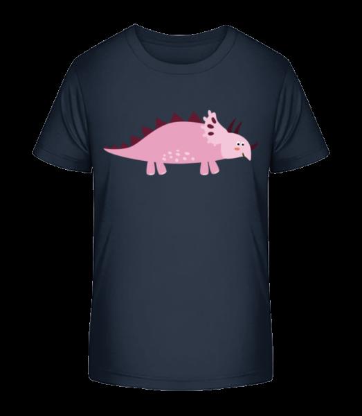 Triceratops - Detské Premium Bio tričko - Namornícka modrá - Predné