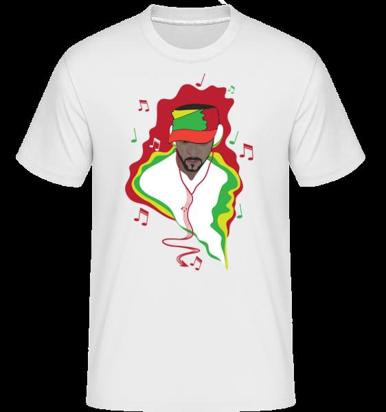 music DJ - Shirtinator tričko pre pánov - Biela - Predné