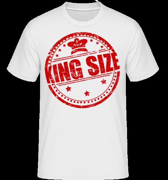 King Size Logo - Shirtinator tričko pre pánov - Biela - Predné