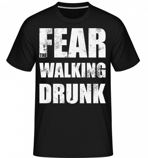 Báť Walking Drunk - Shirtinator tričko pre pánov - Čierna - Predné