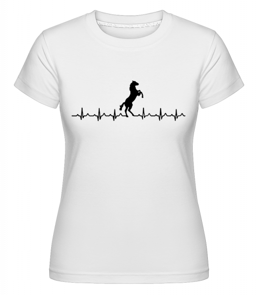 Horse Heartbeat - Shirtinator tričko pre dámy - Biela - Predné