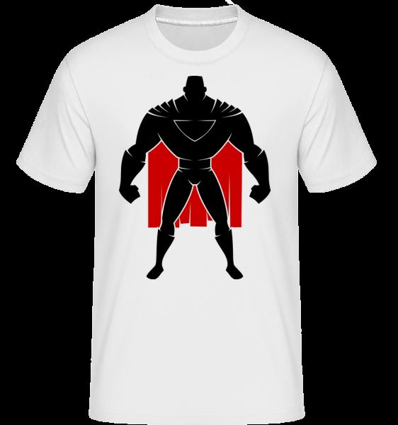 Superman Silhouette Cape - Shirtinator tričko pre pánov - Biela - Predné