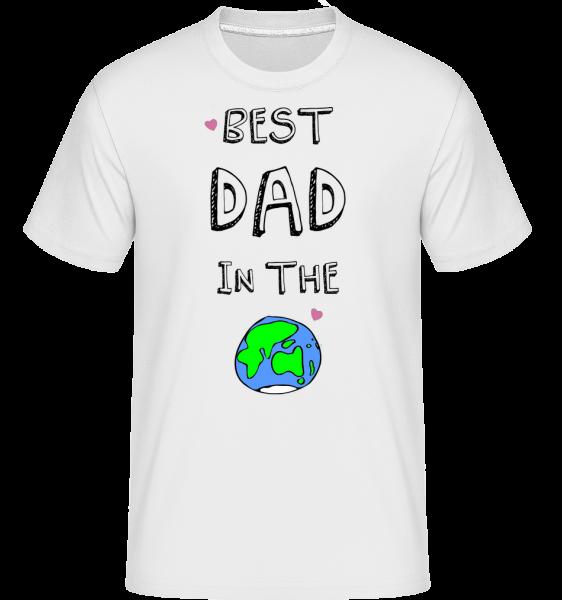 Worlds Best Dad - Shirtinator tričko pre pánov - Biela - Predné