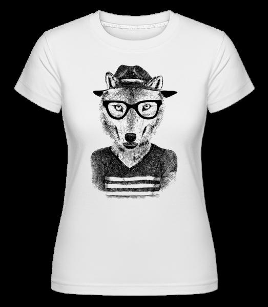 Hipster Fox -  Shirtinator tričko pre dámy - Biela - Predné