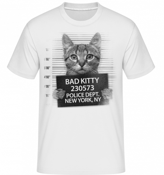 trestné Cat -  Shirtinator tričko pre pánov - Biela - Predné