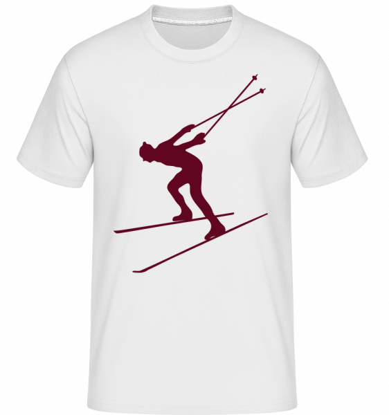 lyžiar - Shirtinator tričko pre pánov - Biela - Predné