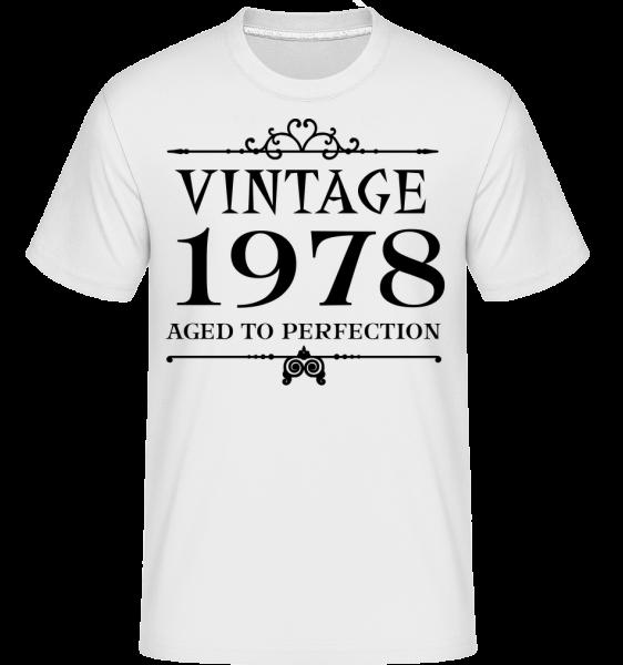 Vintage 1978 Perfection -  Shirtinator tričko pre pánov - Biela - Predné
