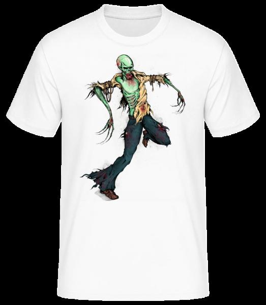 creepy Zombie - Pánske basic tričko - Biela - Predné