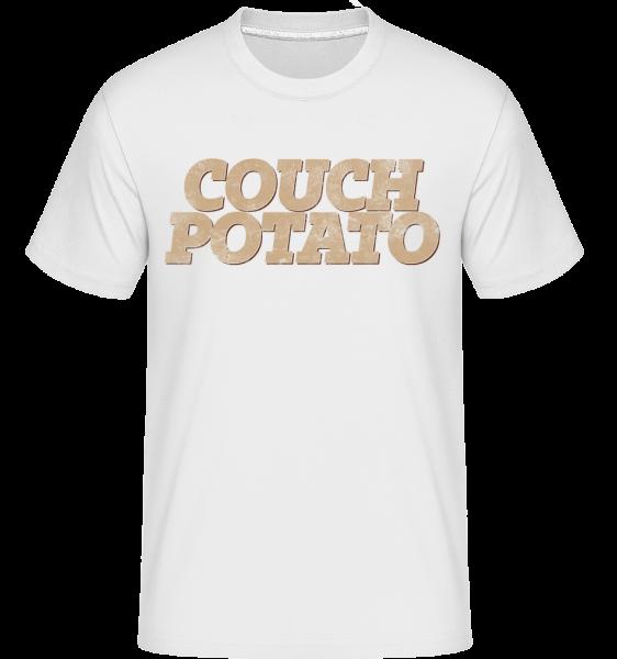 Couch Potato -  Shirtinator tričko pre pánov - Biela - Predné
