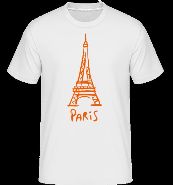 Paris Sign -  Shirtinator tričko pre pánov - Biela - Predné