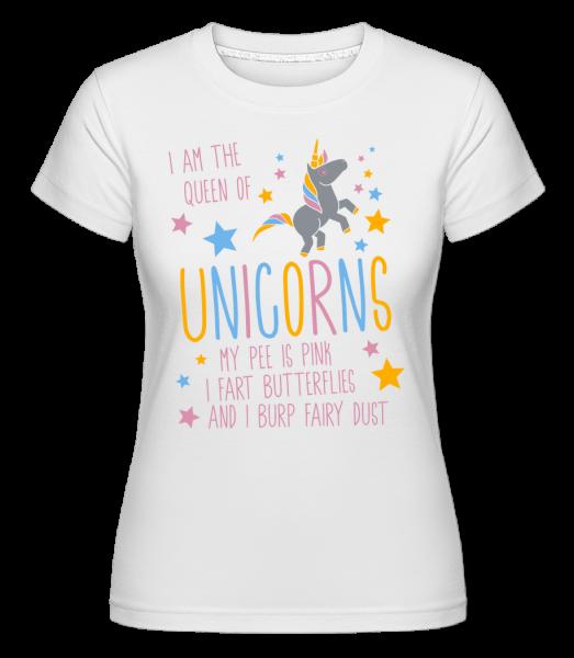 Som kráľovná jednorožcov -  Shirtinator tričko pre dámy - Biela - Predné