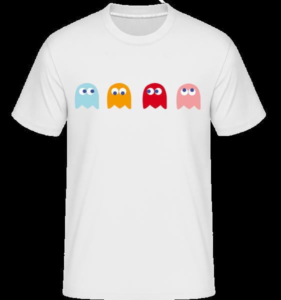 Computer Game Monster -  Shirtinator tričko pre pánov - Biela - Predné