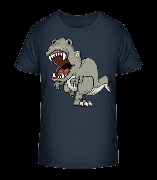 Dinosaur Comic Grey - Detské Premium Bio tričko - Namornícka modrá - Predné