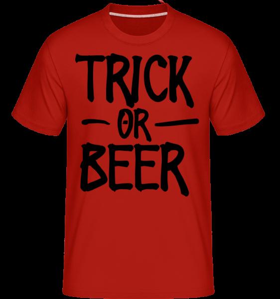 Trik alebo pivo -  Shirtinator tričko pre pánov - Červená - Predné
