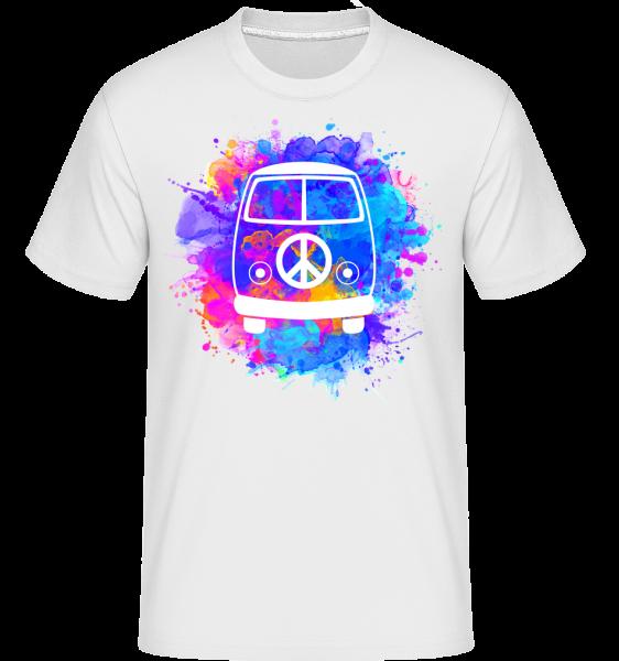 hippie Bus - Shirtinator tričko pre pánov - Biela - Predné