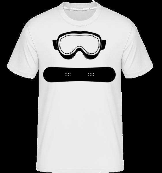 zariadenie snowboardu -  Shirtinator tričko pre pánov - Biela - Predné