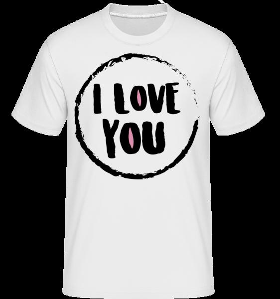 I Love You -  Shirtinator tričko pre pánov - Biela - Predné