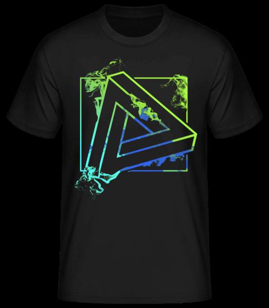 Impossible Triangle - Basic T-Shirt - Černá - Predné