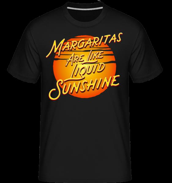 Margaritas Are Liquid Sunshine - Shirtinator tričko pre pánov - Čierna1 - Predné
