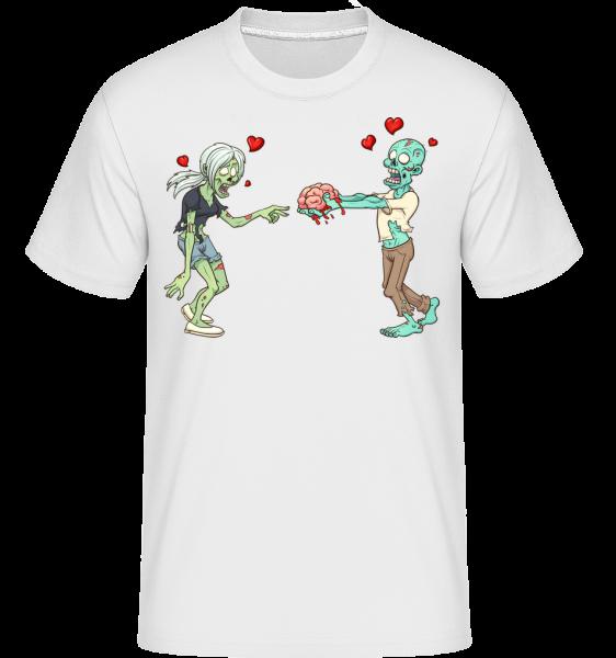 Zombies In Love -  Shirtinator tričko pre pánov - Biela - Predné