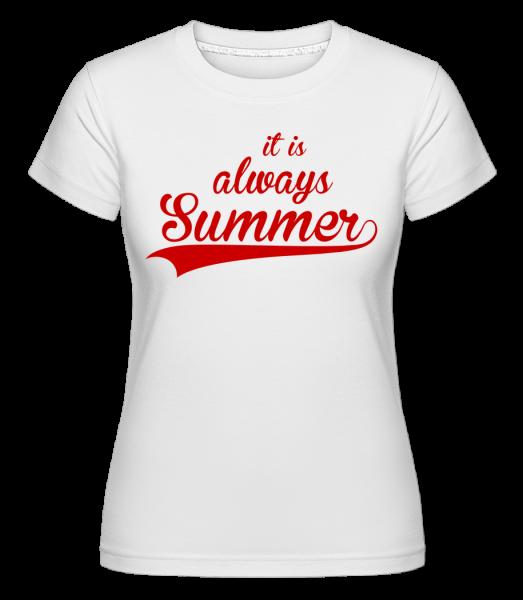 Always Summer Icon -  Shirtinator tričko pre dámy - Biela - Predné
