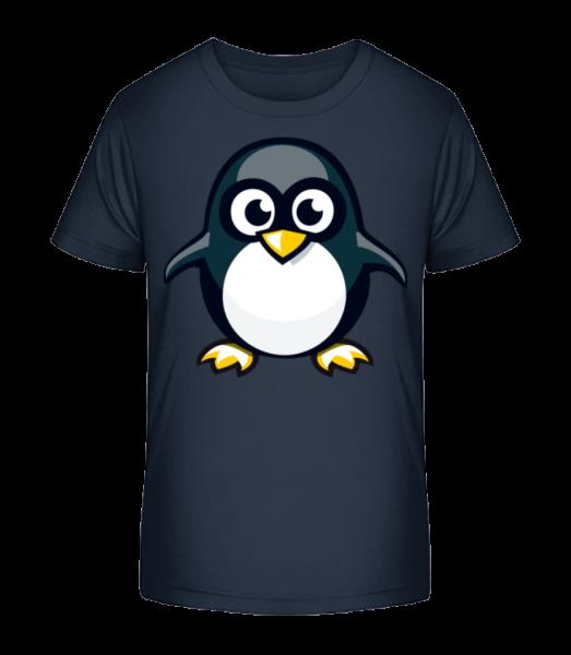 Penguin Kids - Detské Premium Bio tričko - Namornícka modrá - Predné