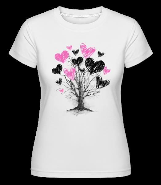 Heart Tree -  Shirtinator tričko pre dámy - Biela - Predné