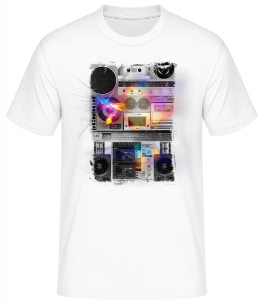 Ghetto Blaster - Basic T-Shirt - Bílá - Predné
