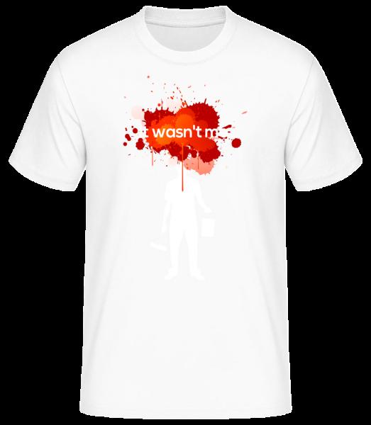 It Wasn't Me - Basic T-Shirt - Biela - Predné