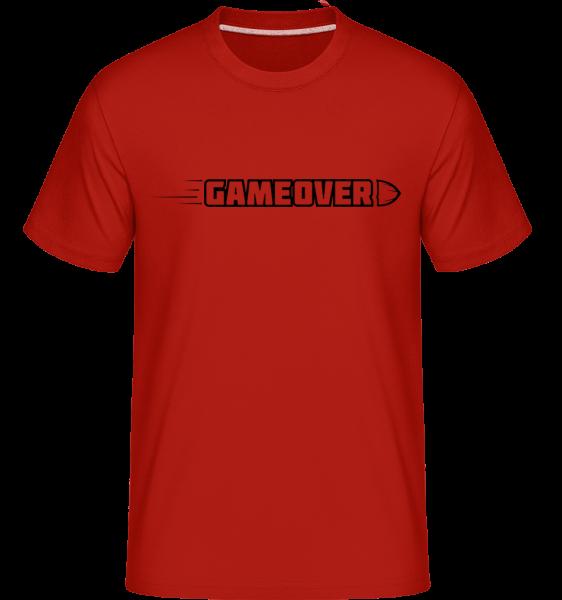 Game Over Simple Sign -  Shirtinator tričko pre pánov - Červená - Predné
