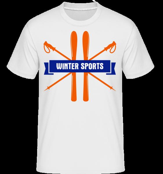 Winter Sports Sign -  Shirtinator tričko pre pánov - Biela - Predné
