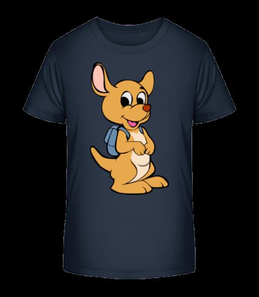 Cute so sáčkom Animal - Detské Premium Bio tričko - Namornícka modrá - Predné