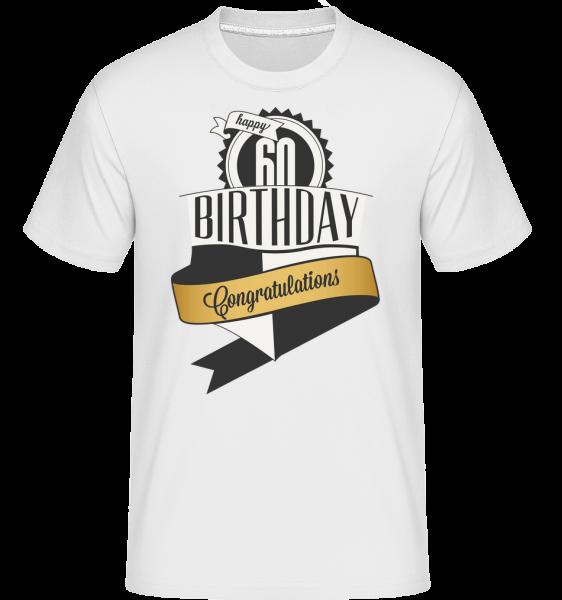 60 Birthday Congrats -  Shirtinator tričko pre pánov - Biela - Predné