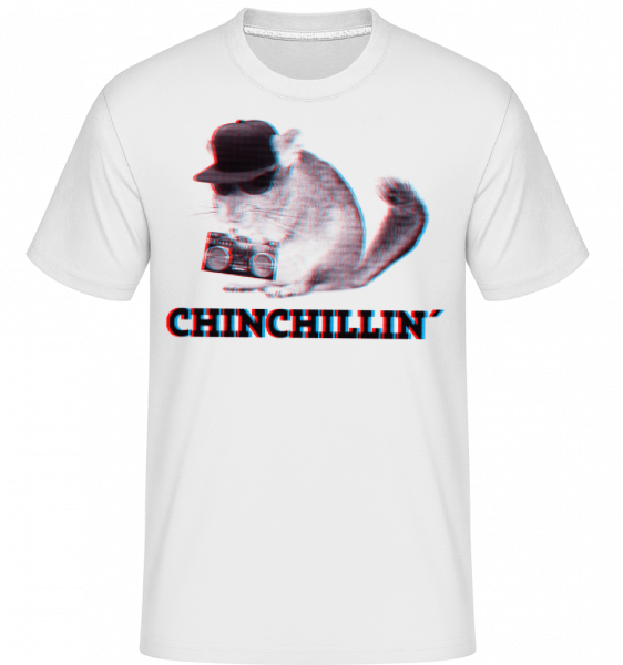 ChinChillin ' - Shirtinator tričko pre pánov - Biela - Predné