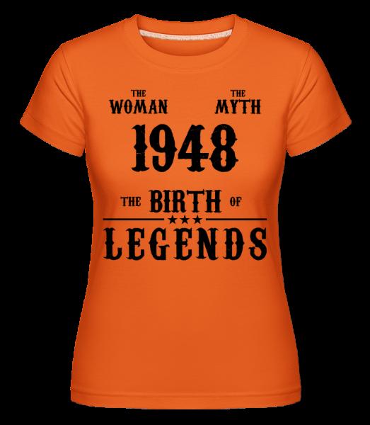 Mýtus Žena 1948 - Shirtinator tričko pre dámy - Oranžová - Predné