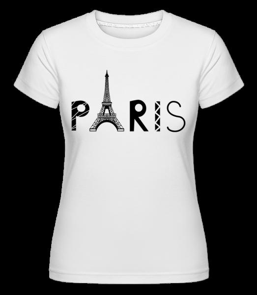 Paris France -  Shirtinator tričko pre dámy - Biela - Predné