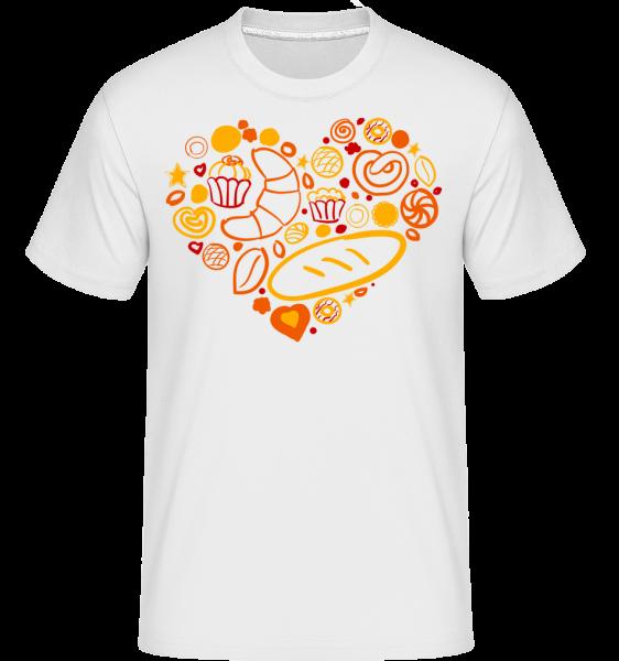 raňajky Heart -  Shirtinator tričko pre pánov - Biela - Predné